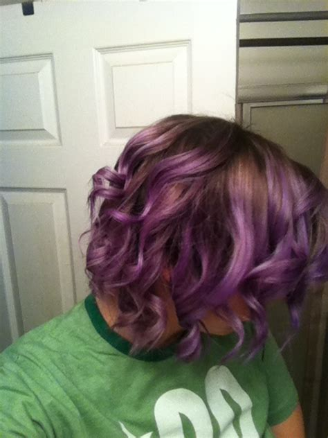 Ombré On Short Hair And Obvi Purple Ombre Shorthair
