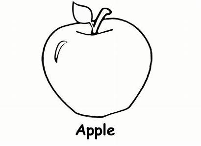 Apple Coloring Printable Pages Preschool Strawberry