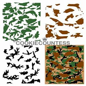 Camouflage Cookie Stencil - the Cookie Countess