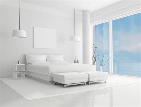 chambre design blanche chambre à coucher blanche avec des accents colorés