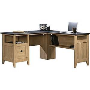 sauder 174 august hill l desk oak staples 174