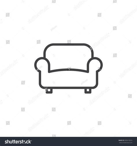 sofa outline vector sofa couch line icon outline vector stock vector 585018310