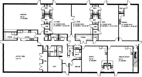 preschool floor plan layout floor plan of world day care in sac city ia day 323