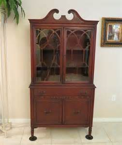 antique cherry china cabinet bernhardt furniture co for f