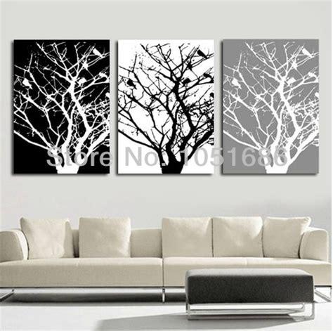piece tangan dicat hitam putih grey  modern lukisan
