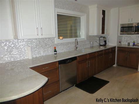 Mother Of Pearl Kitchen Backsplash Tile : Amazing Backsplash With Mother Of Pearl Tile