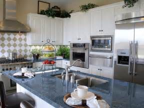 Blue Countertop Kitchen Ideas by Blue Granite Countertops White Cabinets Blue Pearl