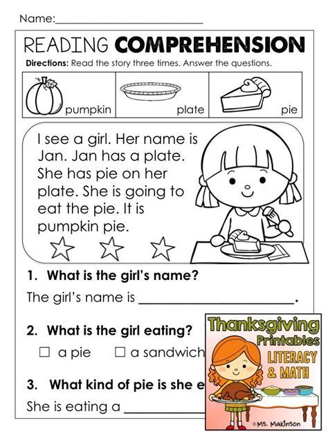 thanksgiving activities la reading kindergarten