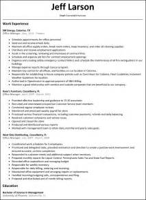 exle resumes for office manager office manager resume resumesles net