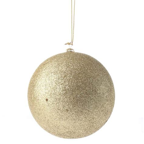 large gold glittered ball ornament christmas ornaments