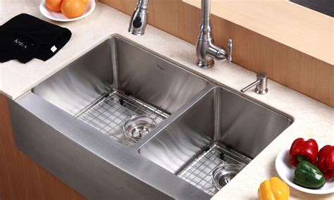 kitchen country sinks kraus country style kitchen sink groupon goods 1027