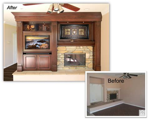 Hand Crafted Custom Fireplace Entertainment Center