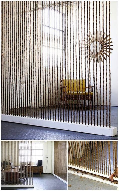 Cool Creativity — Diy Rope Room Divider