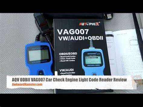 check engine light reader aqv odbii vag007 car check engine light code reader review