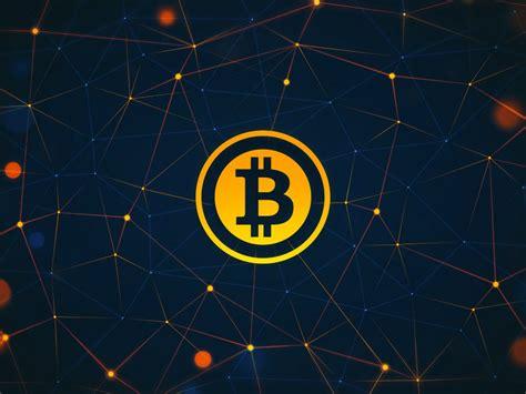 gold bitcoin desktop wallpaper  connecting nodes