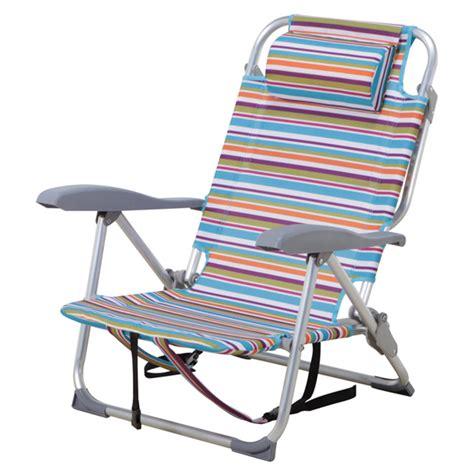 chaise plage chaise de plage ajustable à rayures rona
