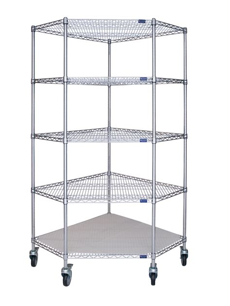 Wire Shelving Corner Unit Mobile Storage Systems