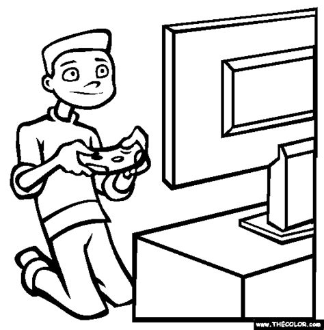 video games coloring page  video games