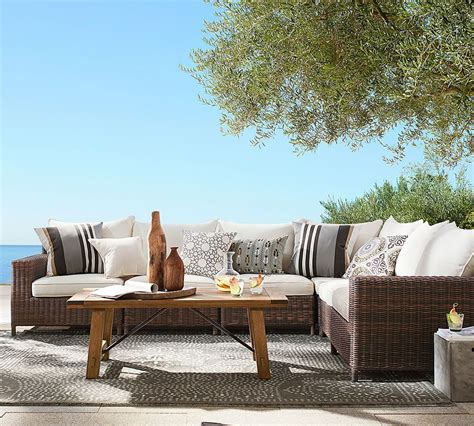 pottery barn outdoor furniture four benefits of eco friendly outdoor furniture pottery barn