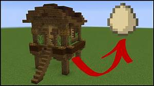 How to make a FUNCTIONAL minecraft chicken coop - YouTube