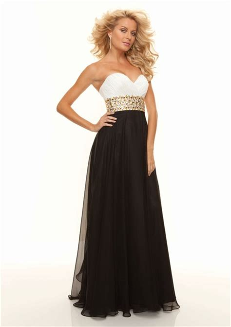 length black dress sheath sweetheart floor length white black chiffon prom Floor