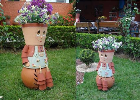 Large Terra Cotta Planters by Clay Pot Flower People Diy Video Tutorial The Whoot