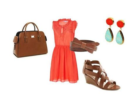 30 best images about Coral Outfit Combination on Pinterest | The silk Coral dress outfits and ...