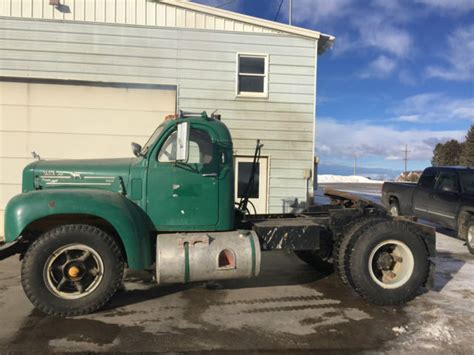 model mack diesel truck semi tractor