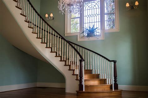 Double Open Curved Staircase - Artistic Stairs