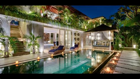 Tropical Villa by Gorgeous Tropical Villas In Bali Design Architechture