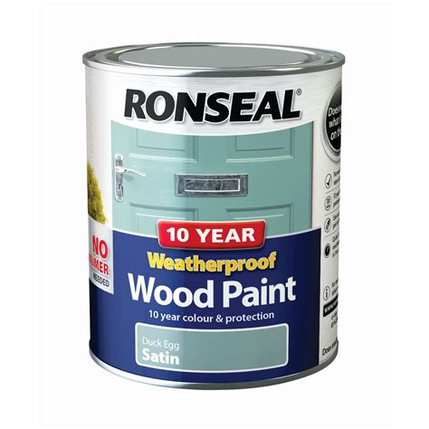 ronseal duck egg satin wood paint departments