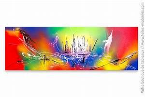 Tableau Moderne Coloré : grand tableau color un nouvel univers ~ Teatrodelosmanantiales.com Idées de Décoration
