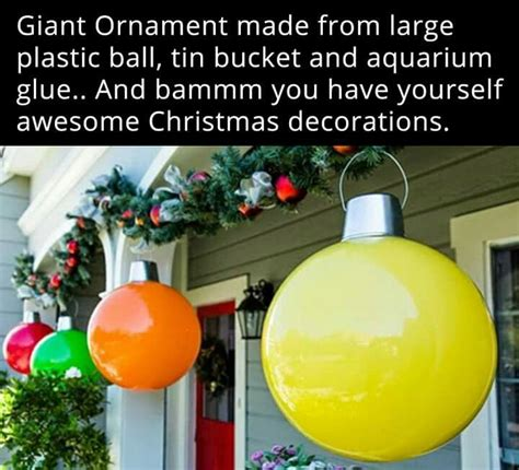 ideas  large christmas ornaments