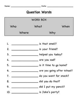 quot wh quot questions worksheet bundle by justinarose11 tpt