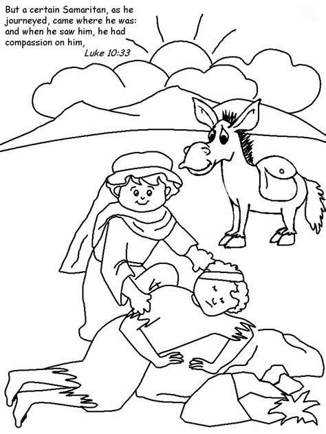 jesus tells about a samaritan teaching ccd 219 | 4c9ddc42826579341da38331fc97c31a good samaritan craft bible coloring pages