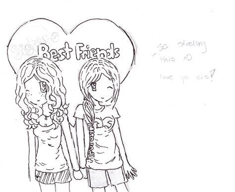 drawn anime  friend pencil   color drawn anime