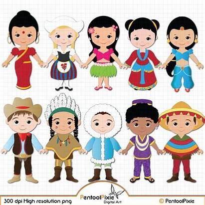 Children Clipart Around Clip Ethnic Worlds Unity