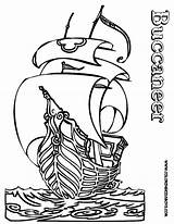 Pirate Coloring Ship Pages Pirates Outline Ships Boys Boat Printable Buccaneer Boats Skulls Colouring Hard Yescoloring Cartoon Collections Seas Children sketch template