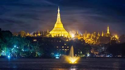 Pagoda Shwedagon Myanmar Worship Wallpapers Places Around