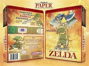The, Legend, Of, Zelda, Nes, Box, Art, Cover, By, Paper