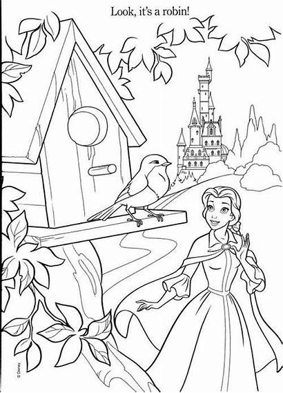 Coloring Belle Pages Disney Princesses Princess Colouring