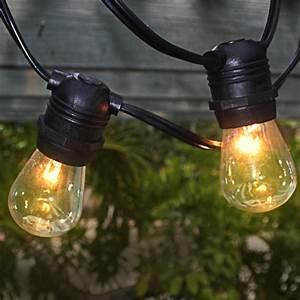 10 socket outdoor commercial string light s14 bulbs 21 ft With outdoor string lights with black cord