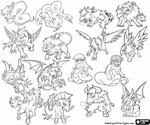 mythical creatures coloring pages printable games