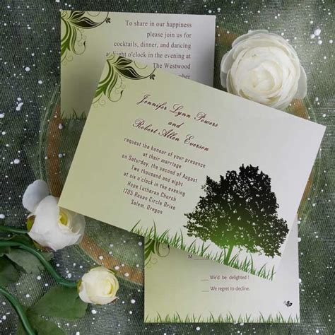 top 5 inexpensive garden wedding invitation ideas