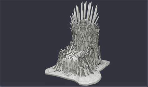iron throne 3d model, 3d iron throne - 3D Models for Professionals :: TurboSquid, Iron Throne - Download Free 3D model by The Mangle  .