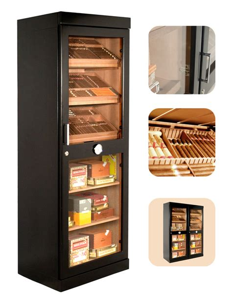 Cigar Cabinet Humidor Australia by Adorini Roma Black Deluxe Cigar Humidor Cabinet 3100