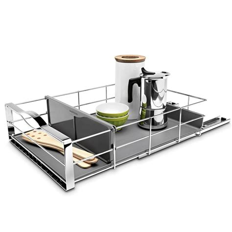 simplehuman 14 in pull out cabinet organizer simplehuman 14 in pull out cabinet organizer in polished