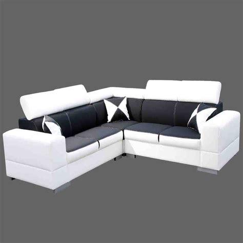 canapes en soldes canapé angle noir et blanc