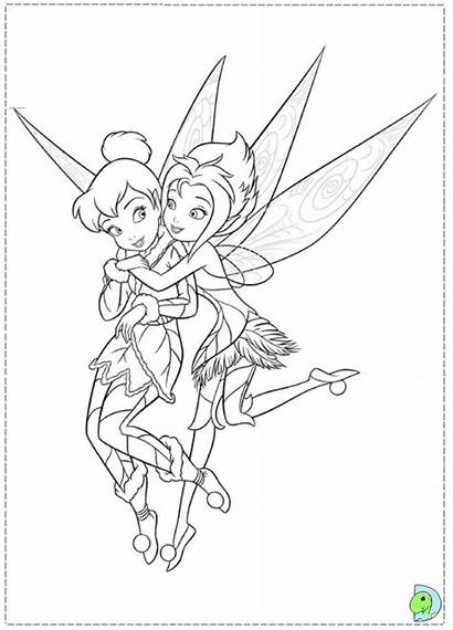 Coloring Tinkerbell Pages Periwinkle Wings Bell Tinker