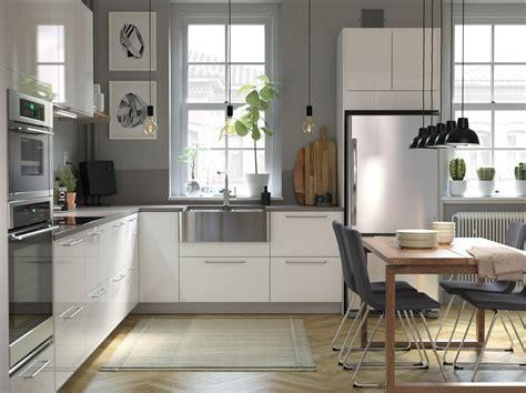 modern bright  airy kitchen  wooden details ikea